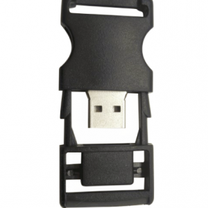 Black Plastic USB Flash Memory Buckle