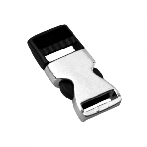 Black Plastic + Silver Metal Buckle (A4)