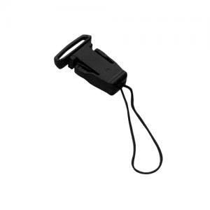 Black Plastic Clip Handphone String (A23)