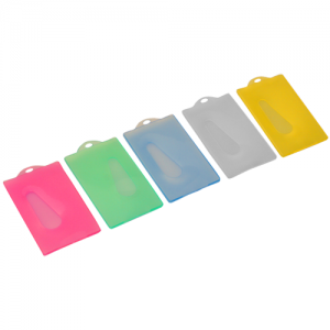 Coloured Hard Plastic Card Holder (A20)